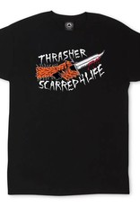 Thrasher Mag. Scarred Black Tee