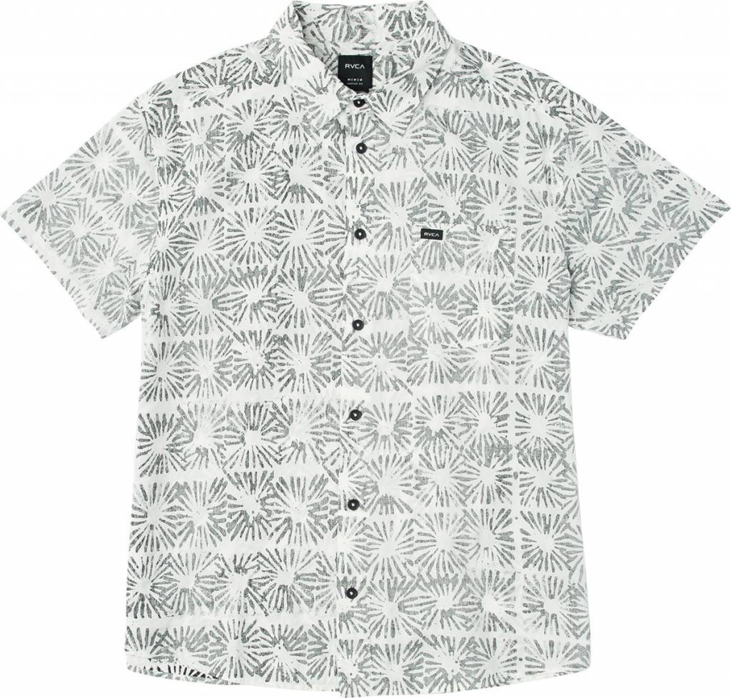 RVCA Flower Block S/S White