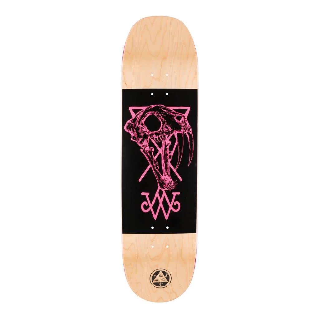 """Welcome Skateboards Saberskull on Moontrimmer 2.0 Nat/Blk/Pnk 8.5"""""""