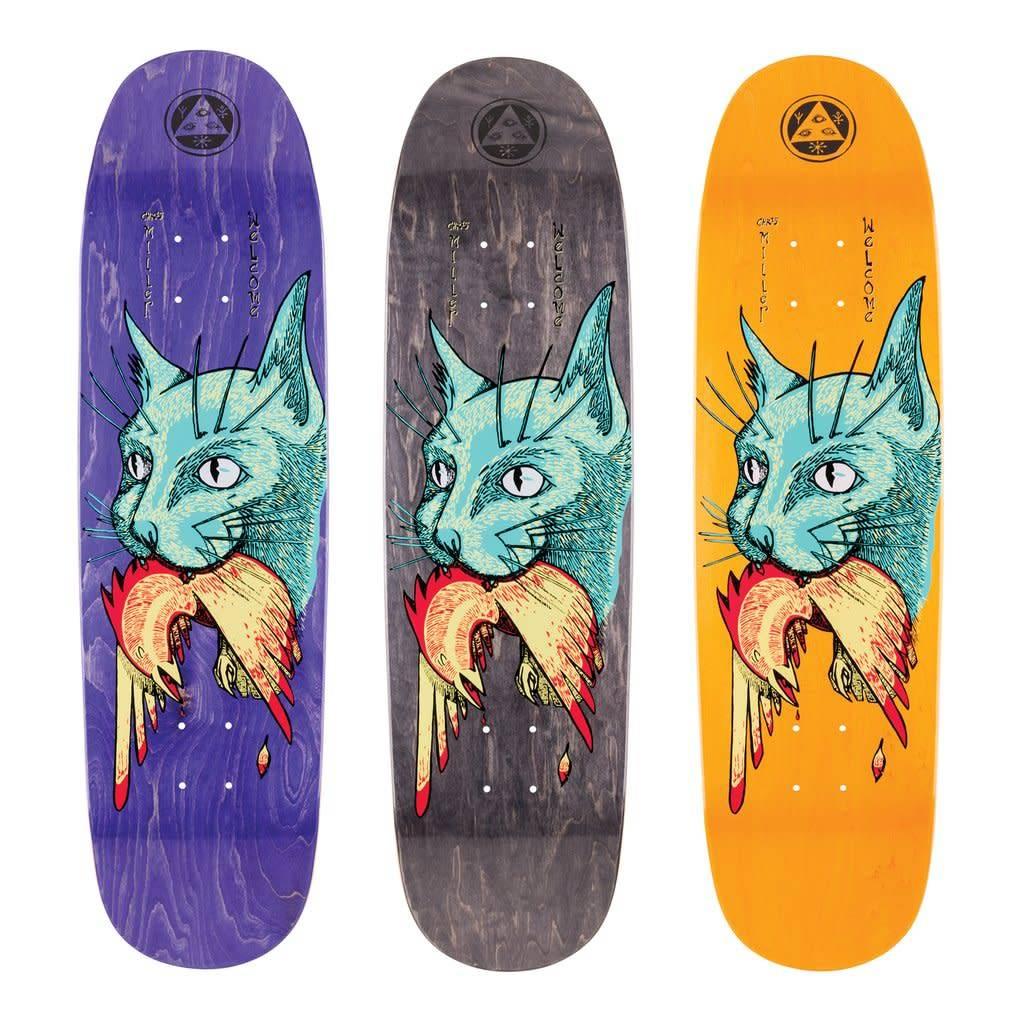 "Welcome Skateboards Miller Cat Gets Bird on Catblood 2.0 Various 8.75"""