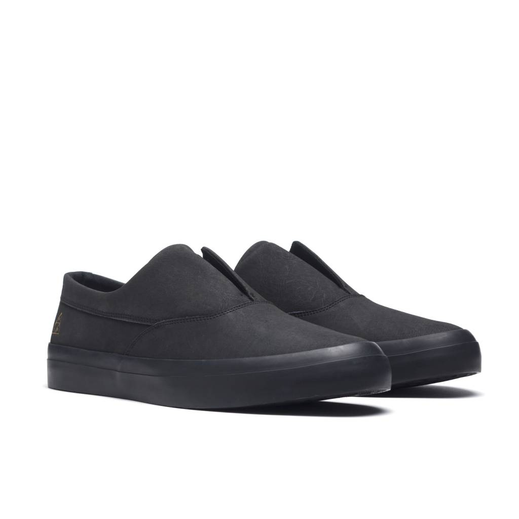 HUF Dylan Slip On Black/Black Leather
