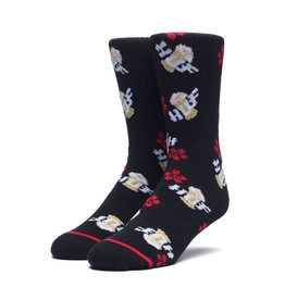 HUF Dive Bar Crew Sock Black