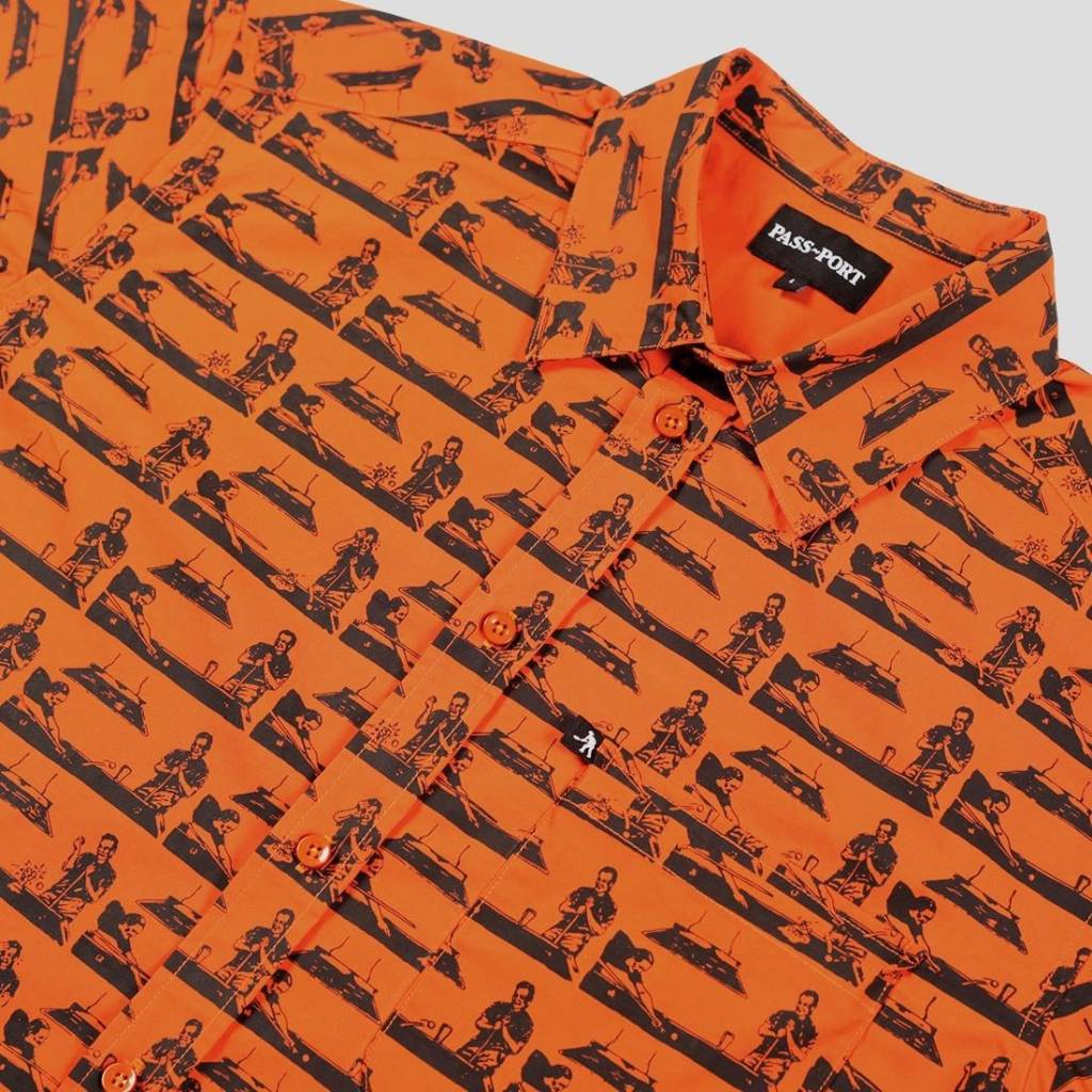 Pass~Port Pool - Glass Button Up Orange