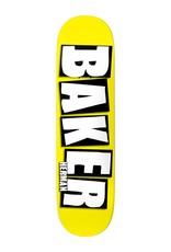"Baker Skateboards Brand Name Neon Yellow BH 8.38"""