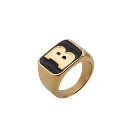 Baker Skateboards Capital B Gold Black Large Ring