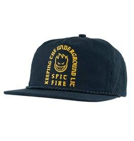 9821d98130172 Spitfire Wheels Steady Rockin Black Snapback