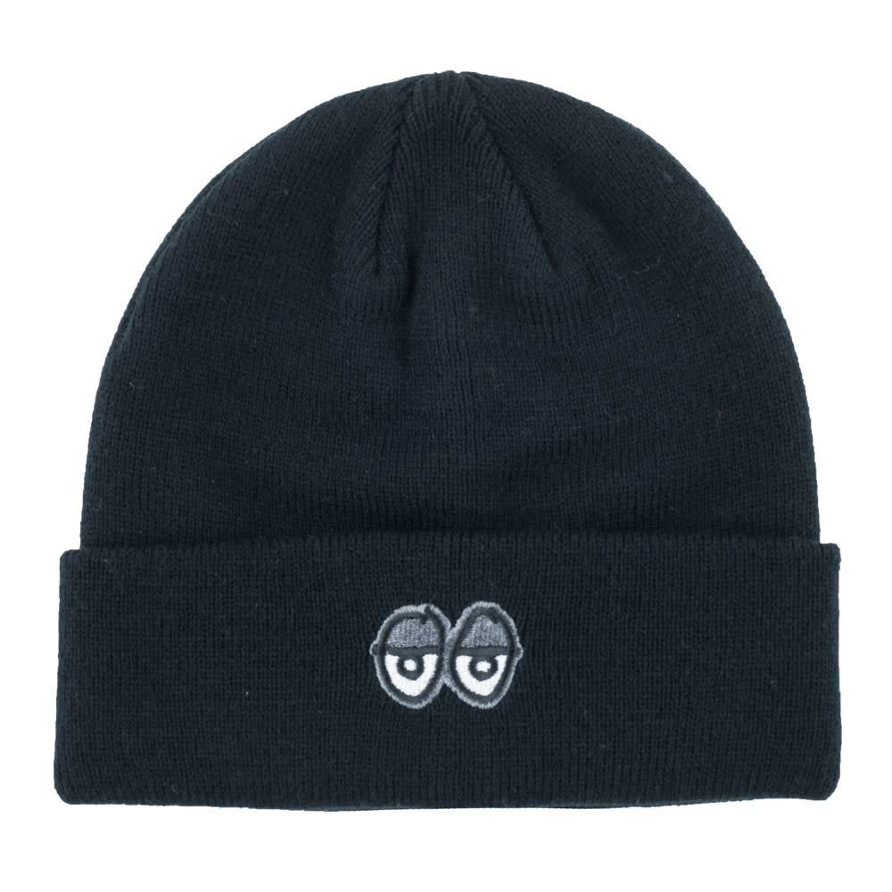 Krooked Eyes EMB Black/Grey Cuff Beanie