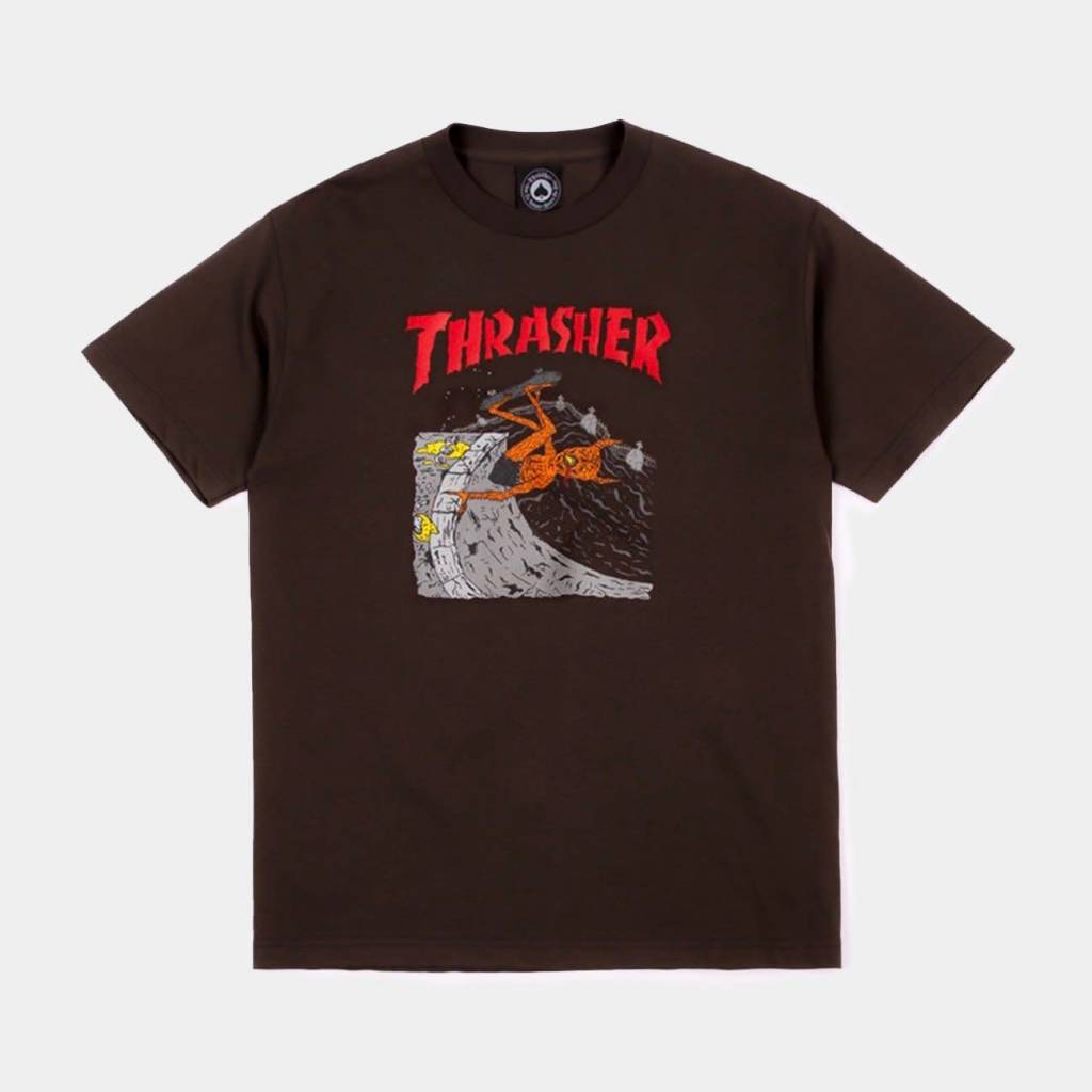 Thrasher Mag. Neckface Invert Tee Brown