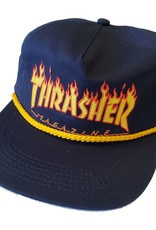 Thrasher Mag. Flame Rope Snapback Navy