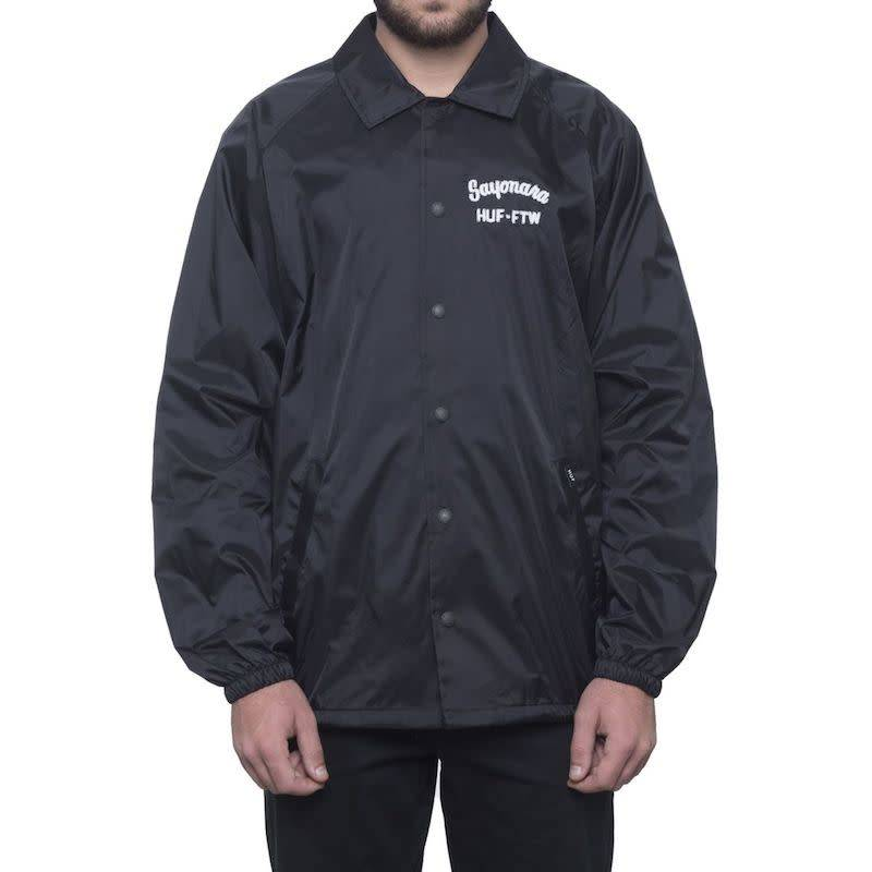 HUF Sayanora Coaches Jacket Black