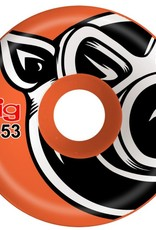 Pig Wheels Pig Head C-Line Orange 53mm