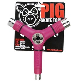 Pig Wheels Pig Tri-Socket Threader Pink Tool