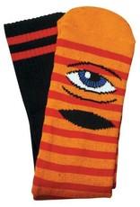 Toy Machine Sect Eye Stripe Orange/Red Sock