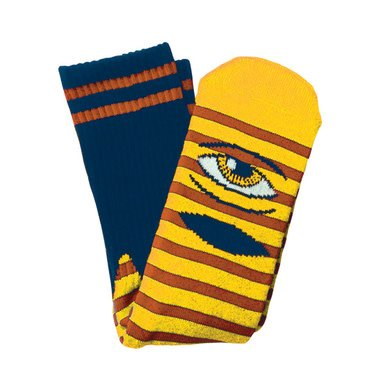 Toy Machine Sect Eye Stripe Yellow/Navy Sock