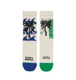 Stance Socks Oblow Palms Natural Boys Large