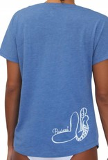 T-Shirt Mermaid Blue w/ White