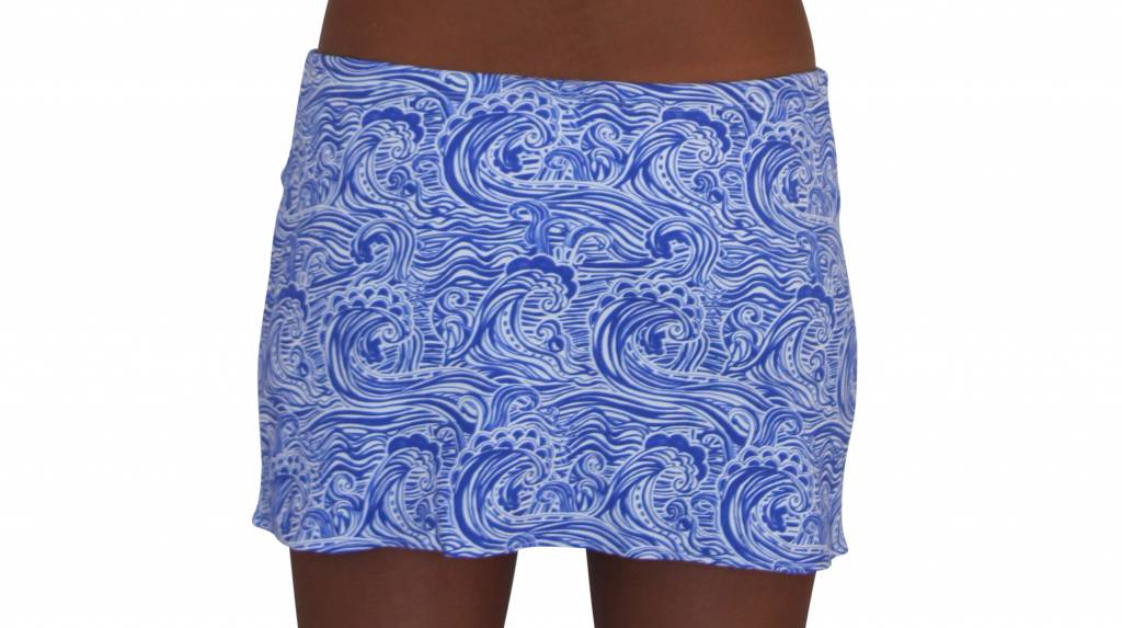 Pualani Short Drawstring Skirt Waves