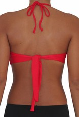 Pualani Twist Bandeau Red Solid
