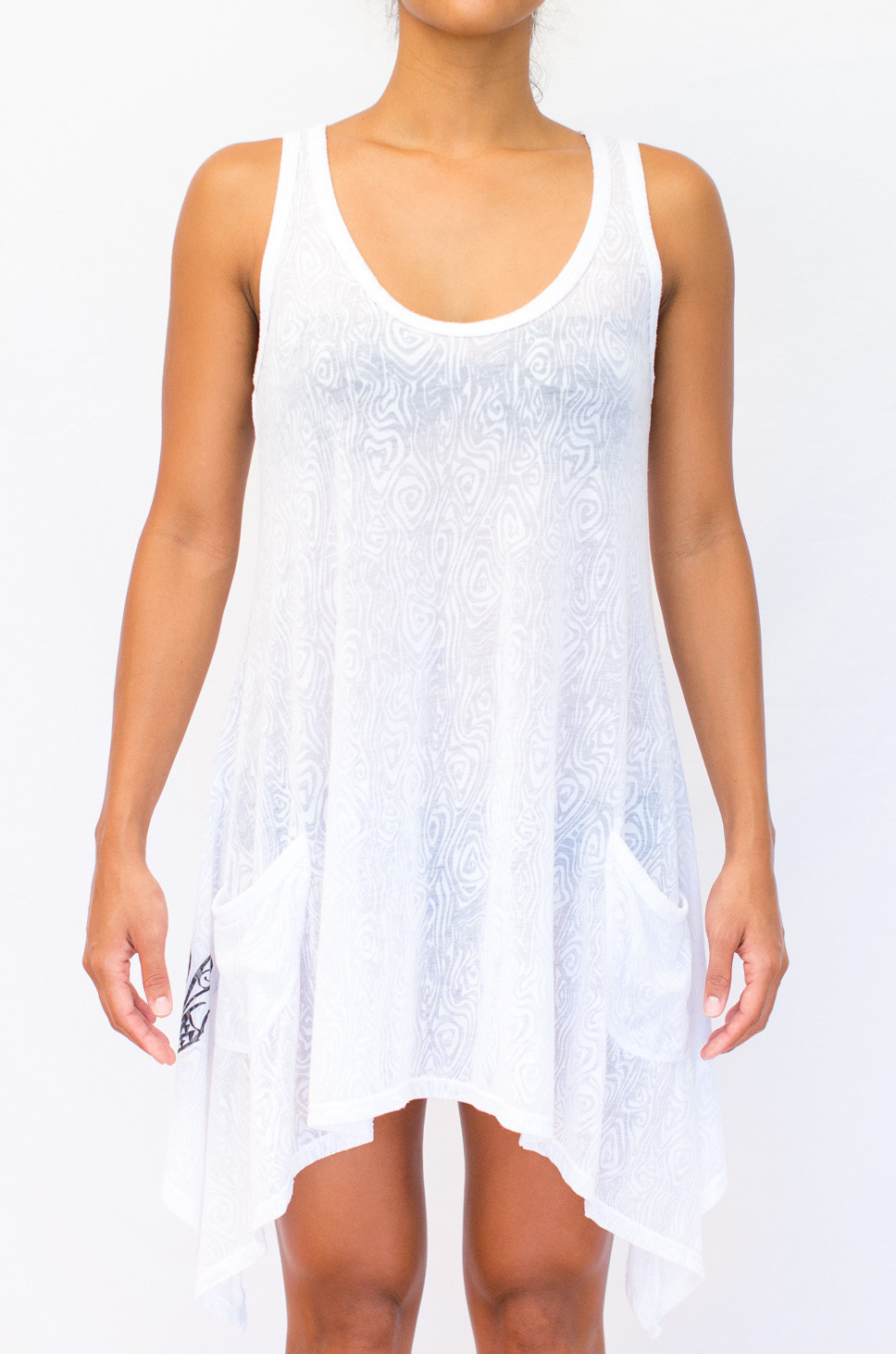 Pualani Cover Up w/ Pockets White Solid