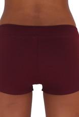 Pualani Hot Pant Maroon Solid