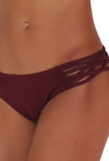 Pualani Skimpy Love with Braided Sides Maroon Solid