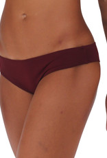 Pualani Scrunch Bootie Bottom Maroon Solid
