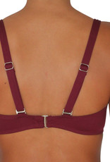 Pualani Soft Cup Bandeau Maroon Solid