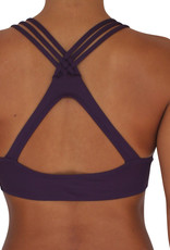 Pualani High Neck Halter Eggplant Solid