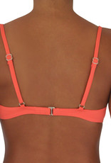 Pualani Bra Top Coral Solid