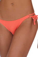 Pualani Skimpy Double Tie Coral Solid