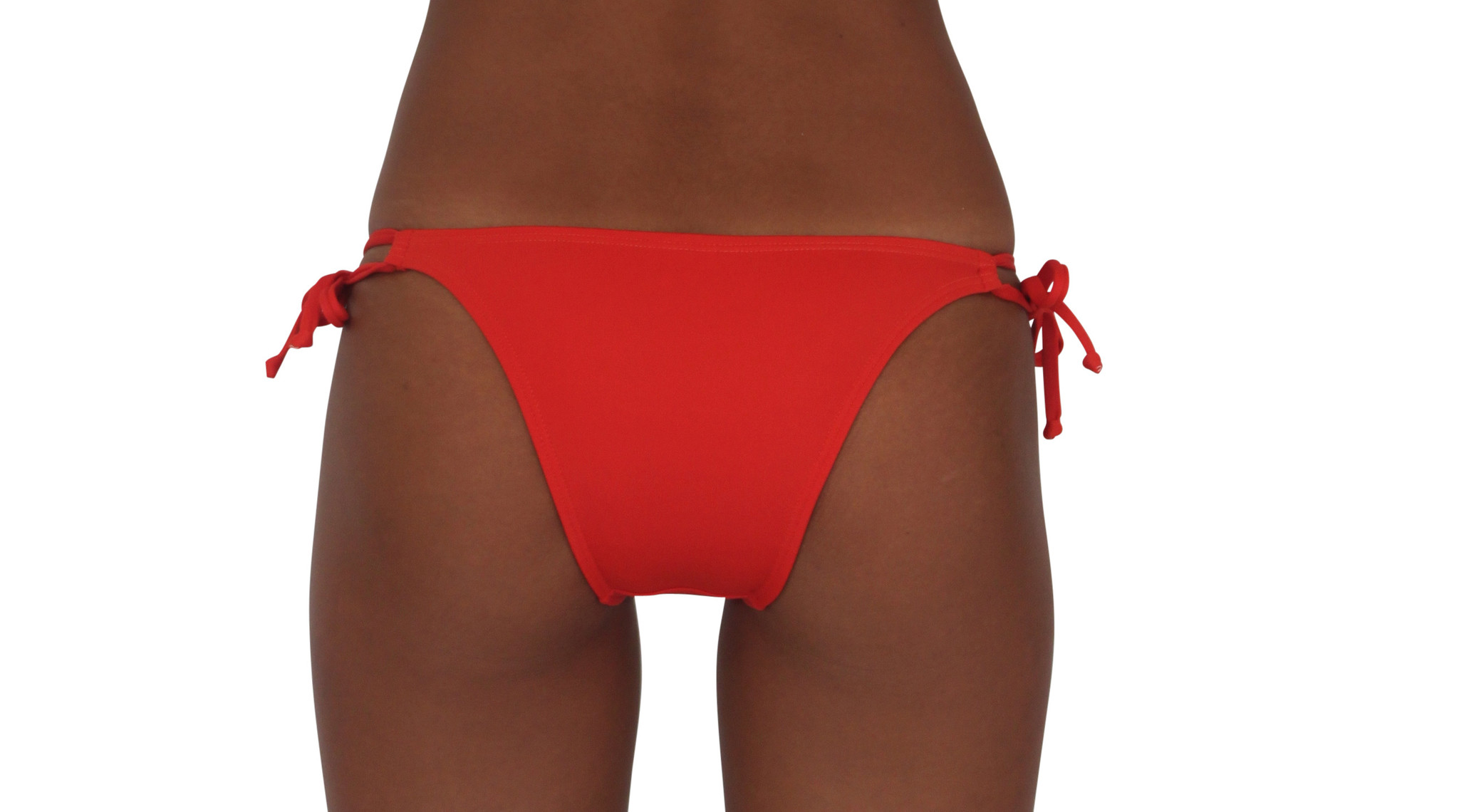 Pualani Skimpy Double Tie Orange Solid