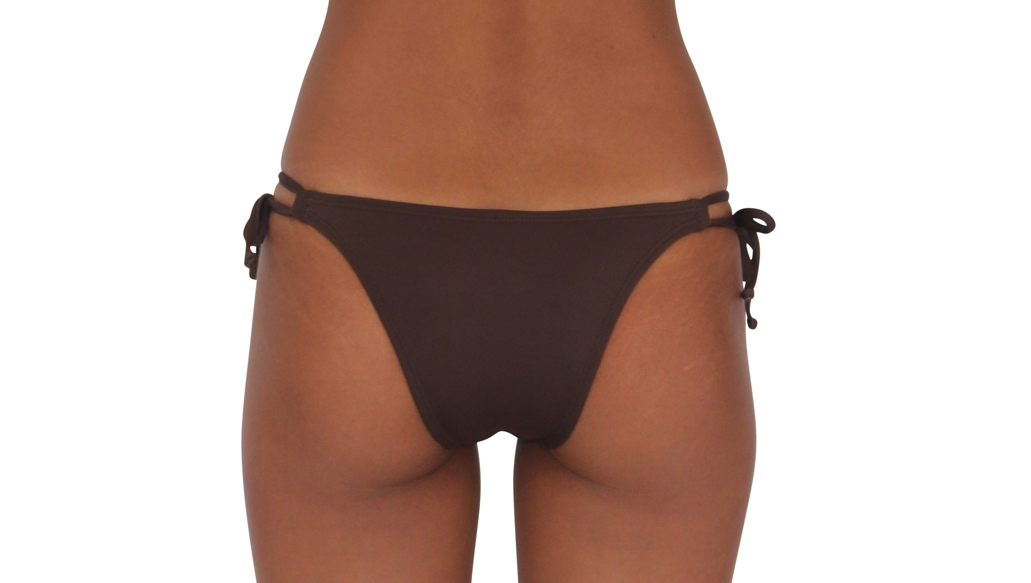 Pualani Skimpy Double Tie Chocolate Solid