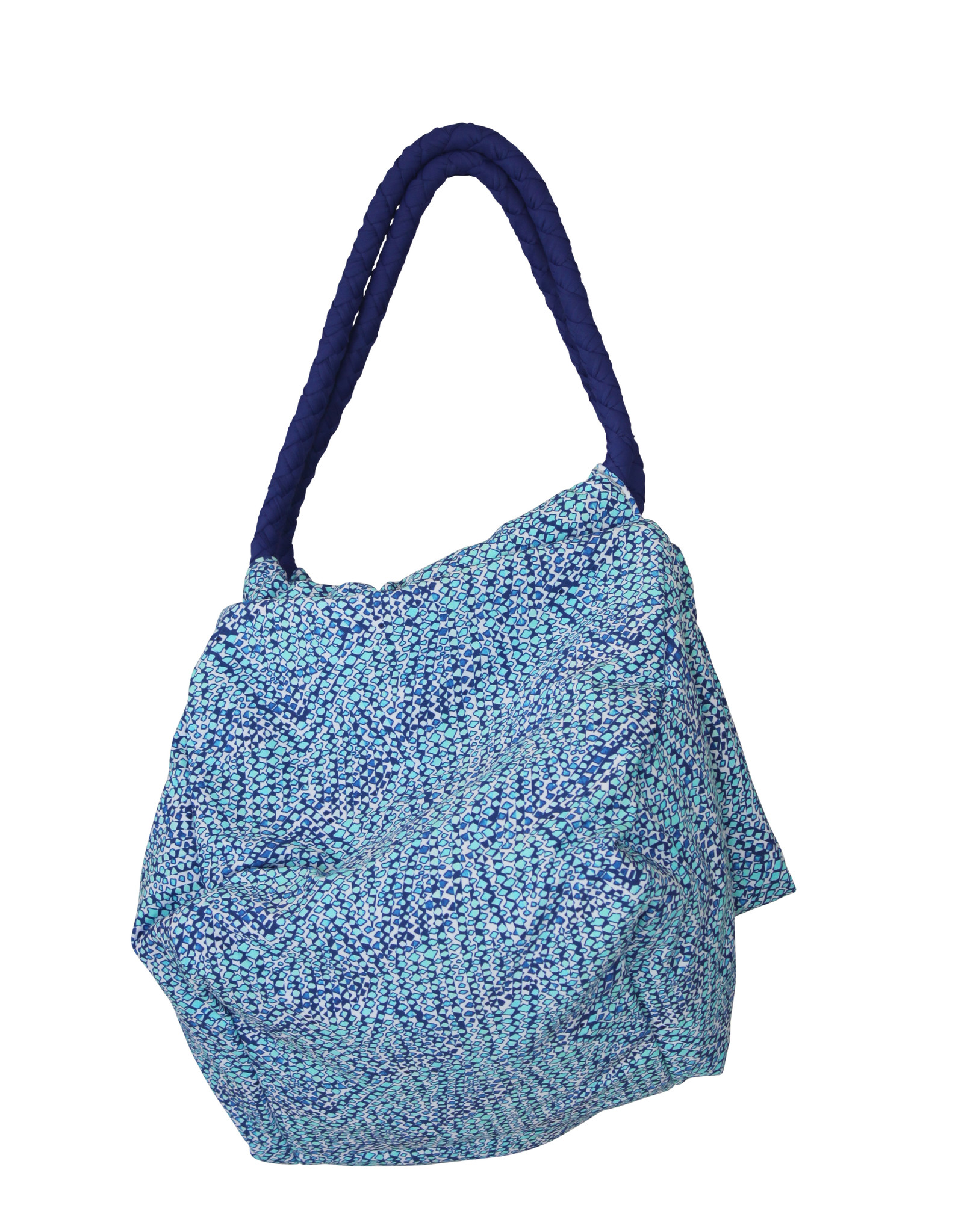 Pualani Large Beach Bag Blue Confetti