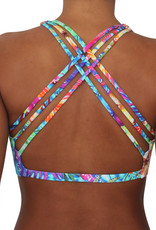 Pualani Reversible Fitness Surf Top Paradise