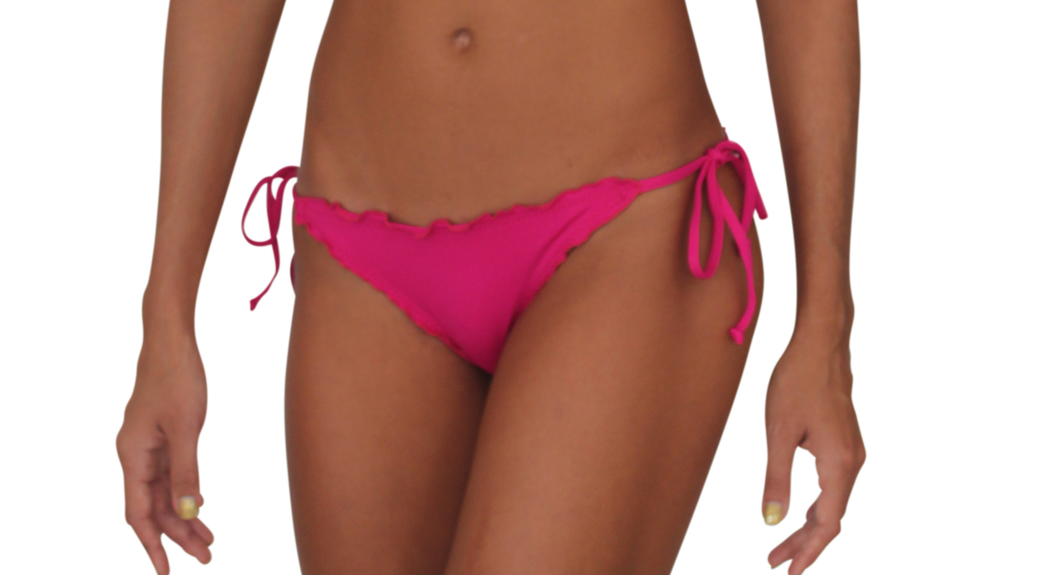 Pualani Full Scrunch Tie Side Fuschia Solid