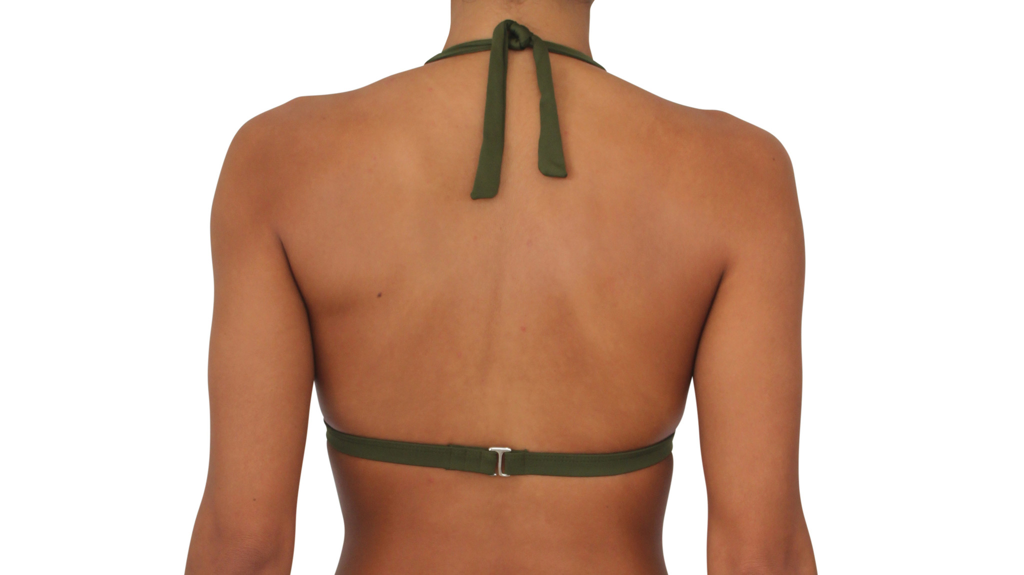 Pualani Halter Olive Solid