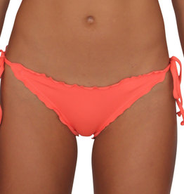 Pualani Full Scrunch Tie Side Coral Solid