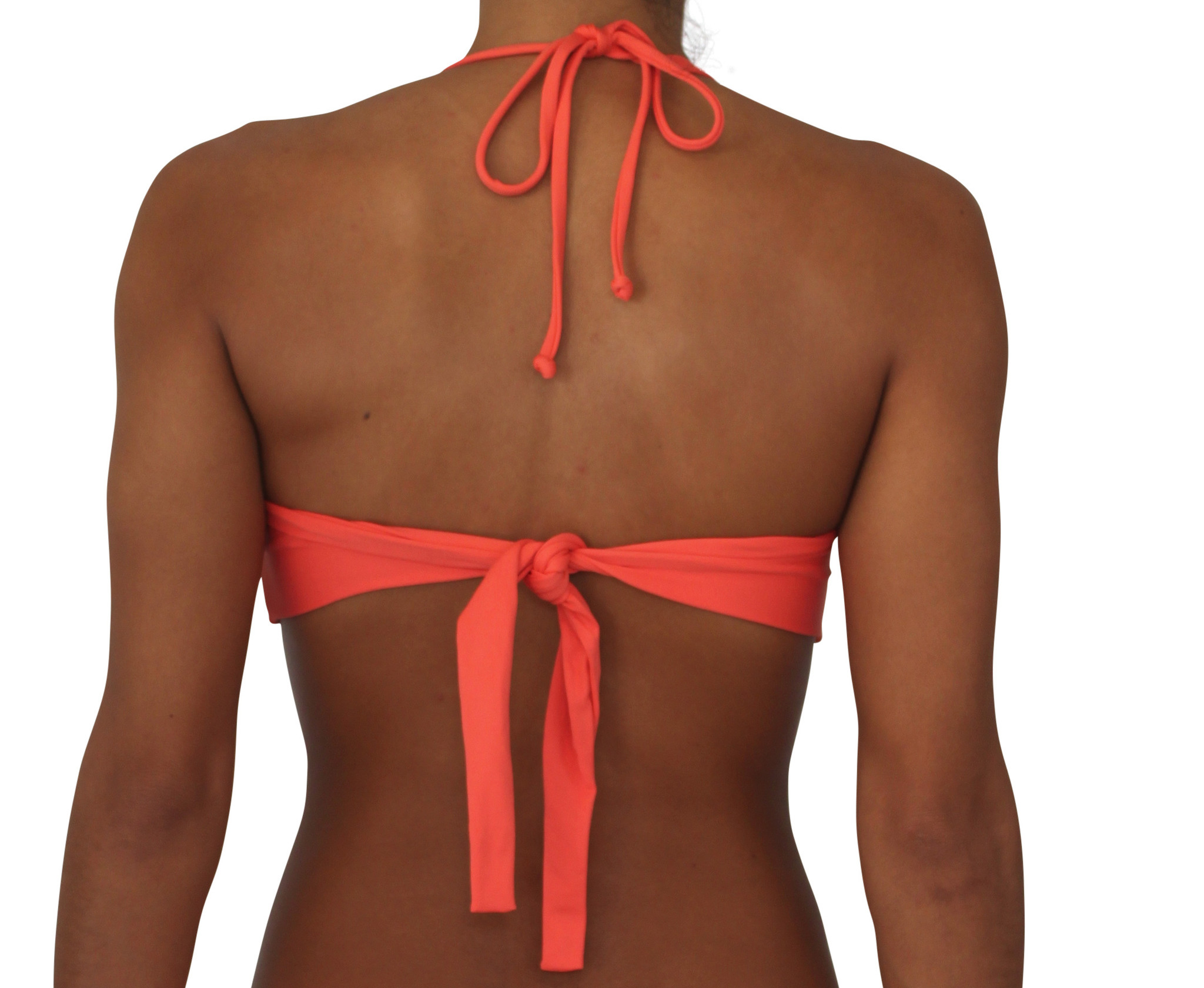 Pualani Twist Bandeau Coral Solid
