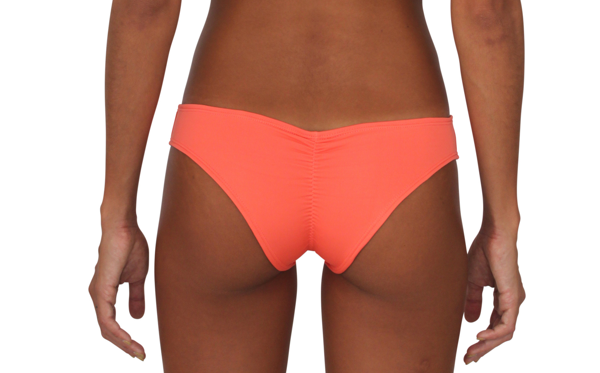 Pualani Scrunch Bootie Coral Solid