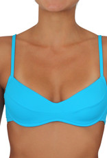 Pualani Bra Top Electric Blue Solid
