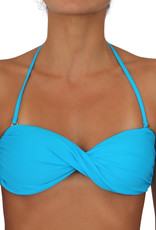 Pualani Twist Bandeau Electric Blue Solid