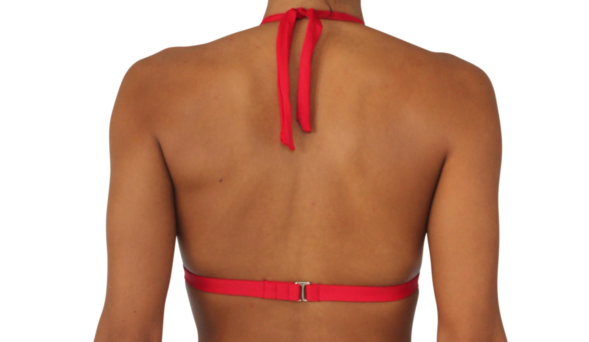 Pualani Halter Red Solid