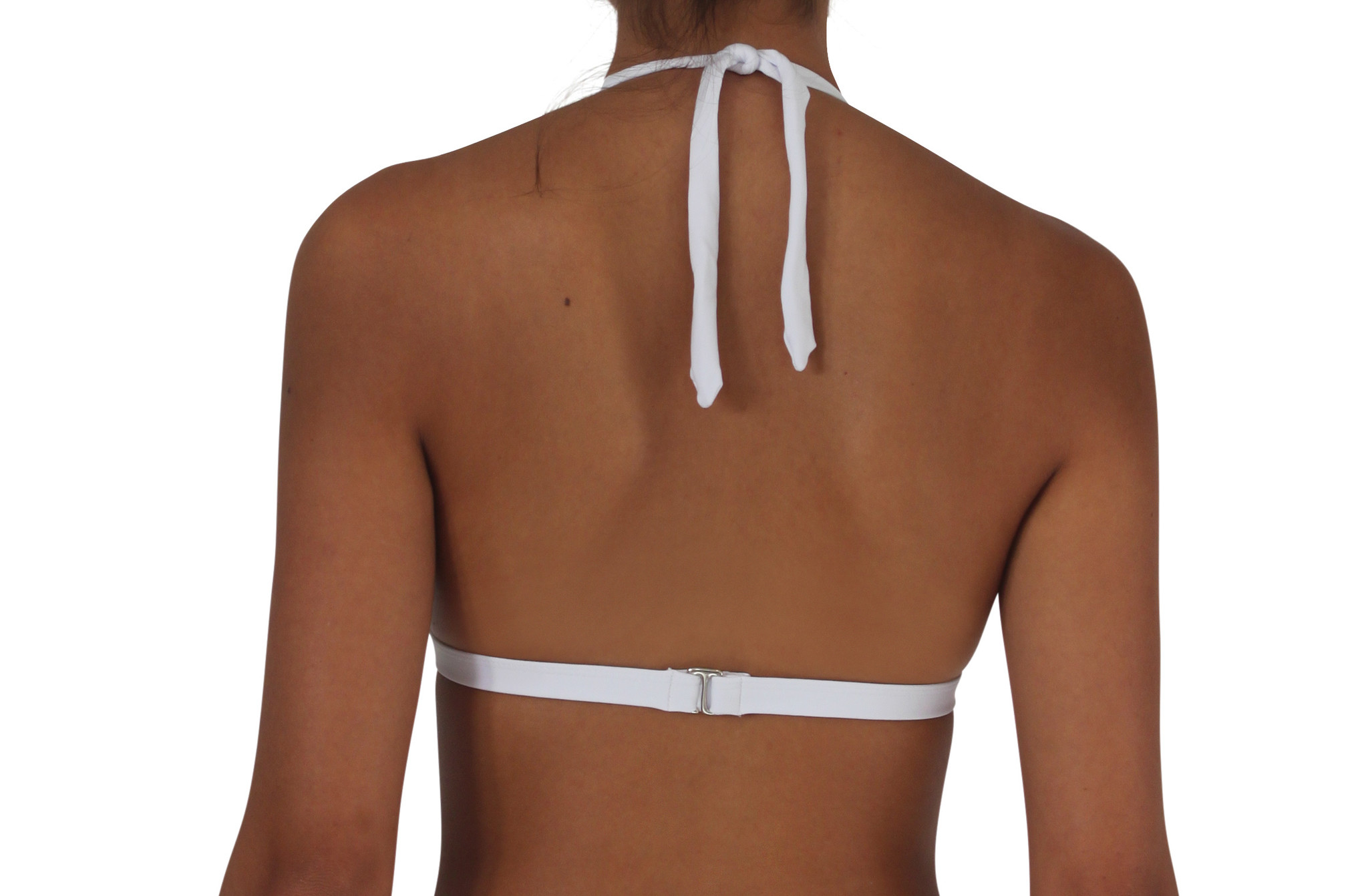 Pualani Halter White Solid