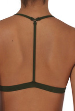 Reversible T-Back Olive Solid