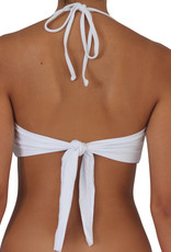 Pualani Twist Bandeau White Solid