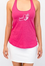 Pualani Mermaid T Back Tank Fuschia