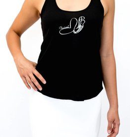 Pualani Mermaid T Back Tank Black Solid