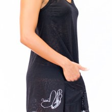Pualani Cover Up w/ Pockets Black Solid