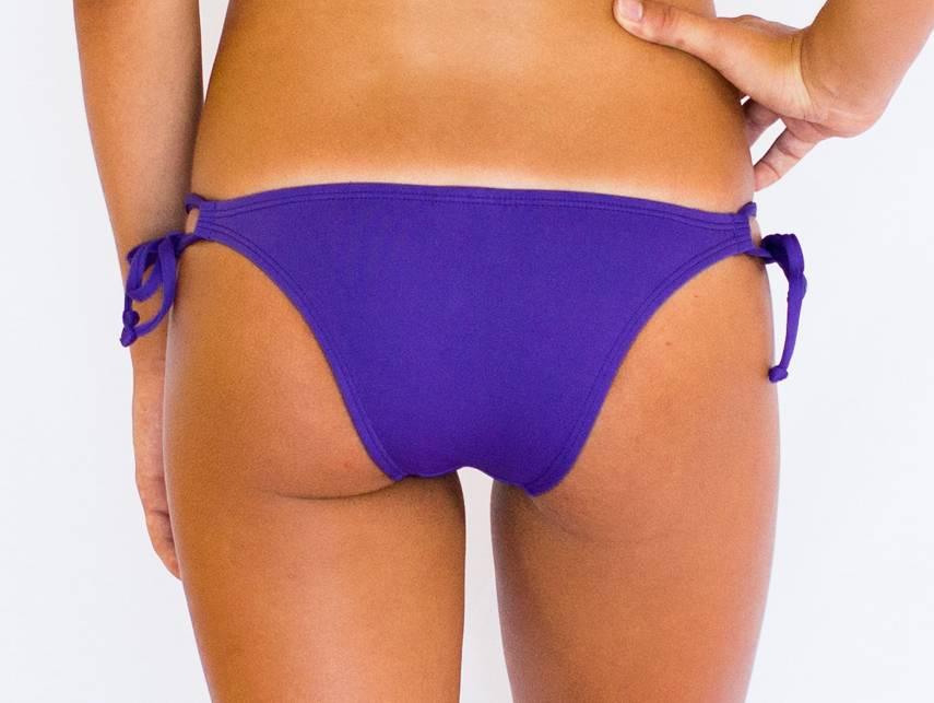 Pualani Skimpy Double Tie Purple Solid