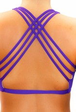 Pualani Fitness Surf Top Purple Solid